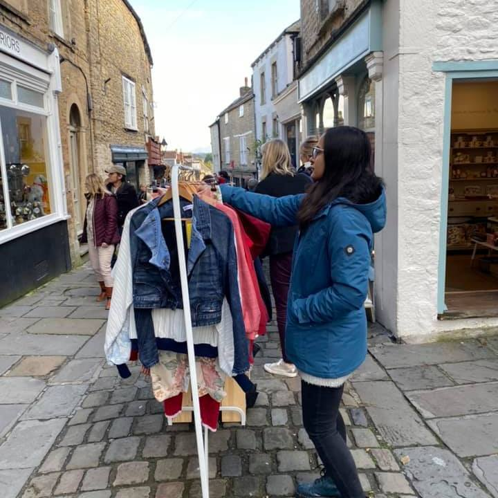 Frome Independent, selling, market day, stall