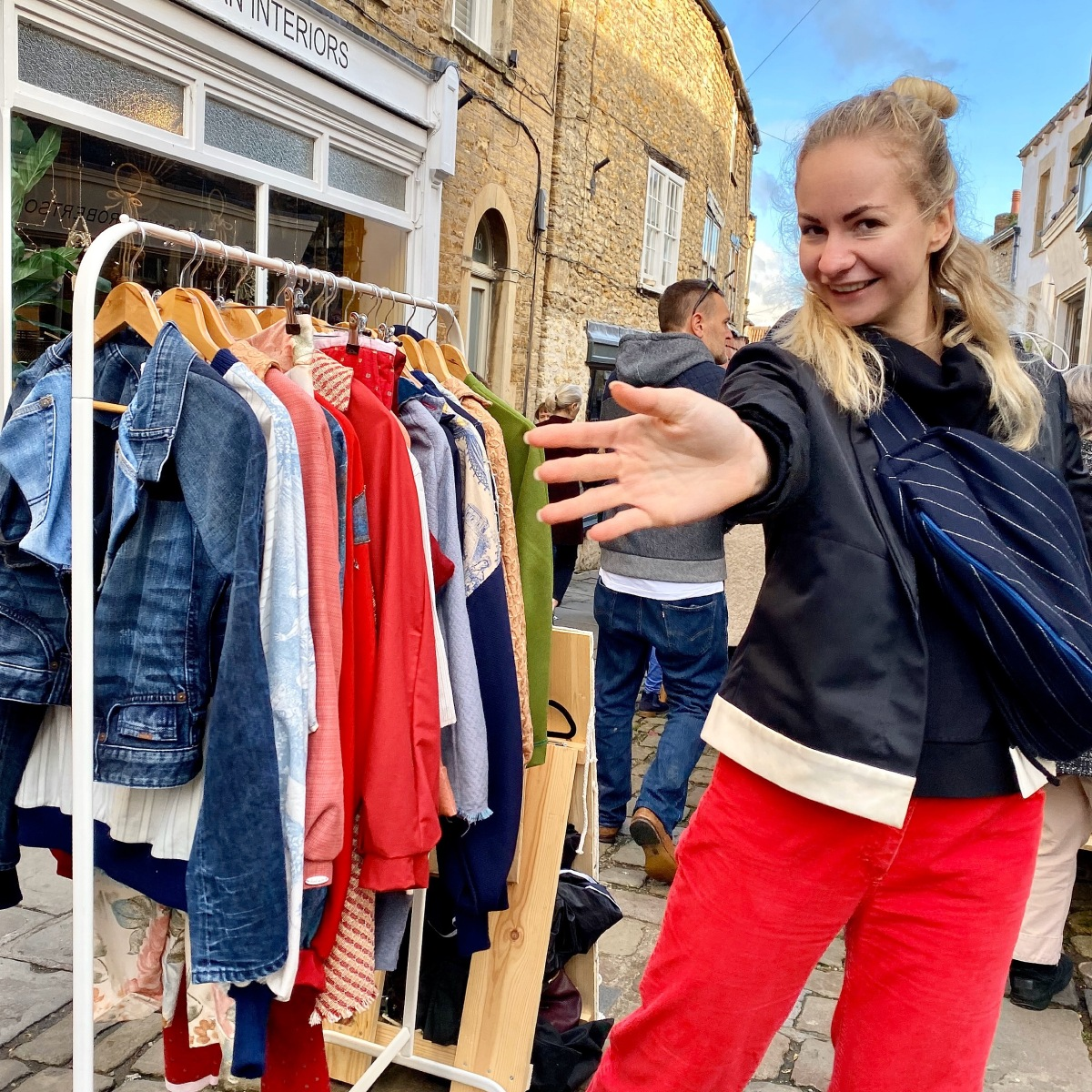 market, selling, garments, sustainable fashion, eco fashion, market day, the frome independent