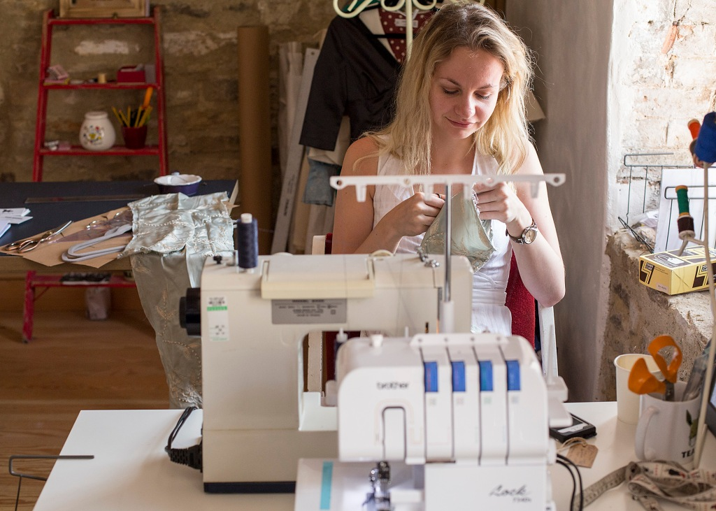sustainable brand, eco fashion, atelier, seamstress